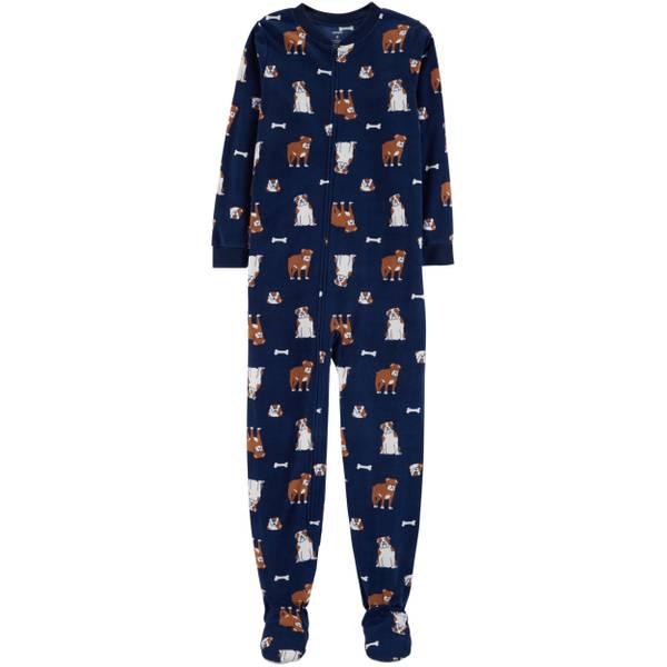 be7f8a87ab Carter s Big Boys  1-Piece Fleece Multi Dog Pajamas Navy