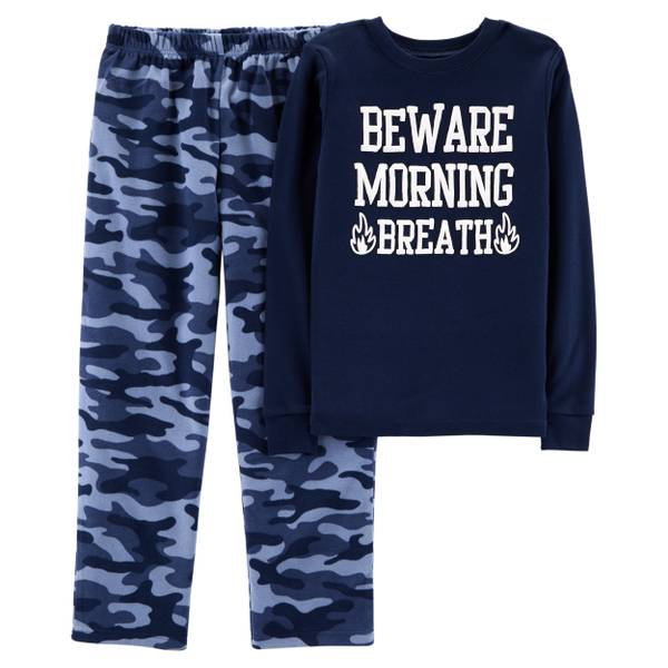 80d78e842 Carter s Big Boys  2-Piece Fleece Bad Dragon Pajamas Blue