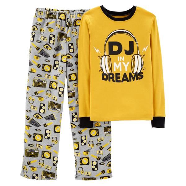 065ce520e2fa Carter s Big Boys  2-Piece Fleece DJ My Dreams Pajamas Yellow