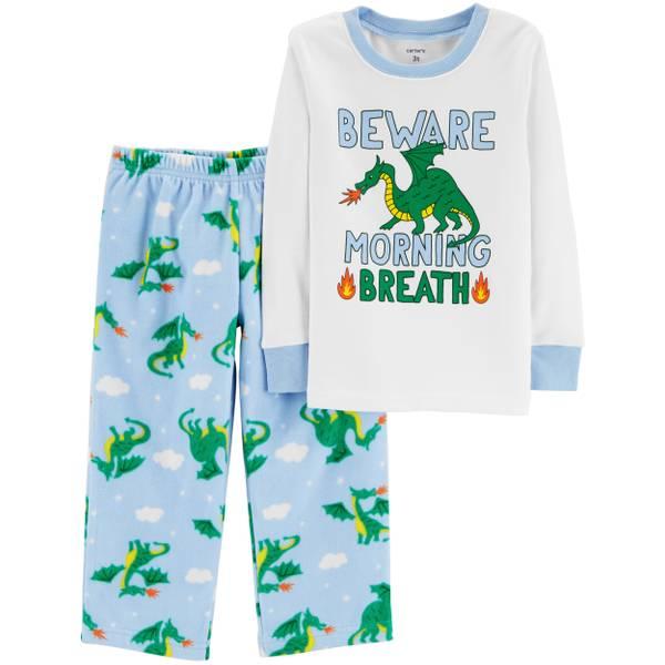 28daf069f2c9 Carter s Toddler Boys  2-Piece Fleece Bad Dragon Pajamas Blue
