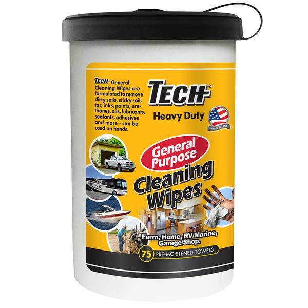 75 Count Tech Heavy Duty All Purpose Wipes