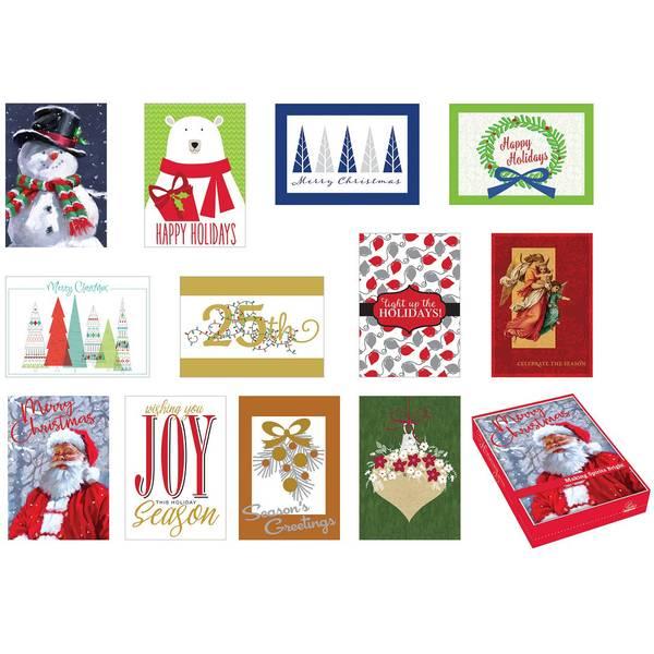 16 Count Season's Memories Boxed Cards Assortment