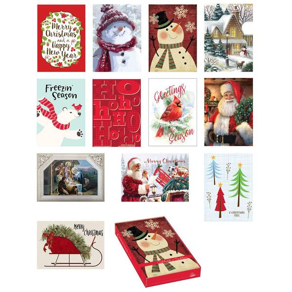 18 Count Holiday Memories Boxed Cards Assortment