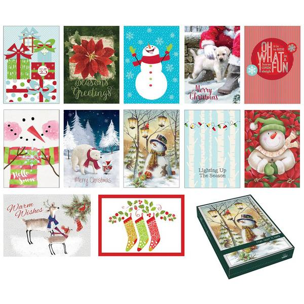 16 Count Holiday Favorites Boxed Cards Assortment