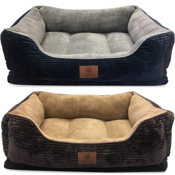 "34""x27"" AKC Corduroy Ortho Cuddle Bed Assortment"