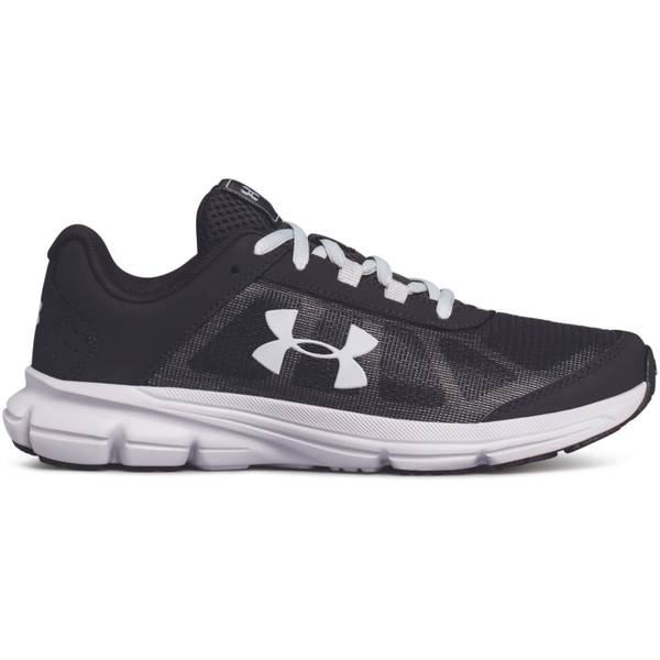 Boy's Black & Overcast Gray & White Rave Running Shoes