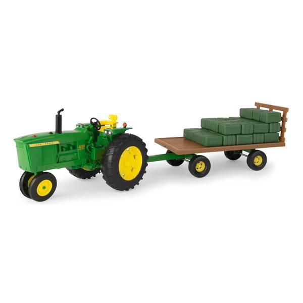 1:16 Big Farm John Deere 4020 Tractor & Wagon