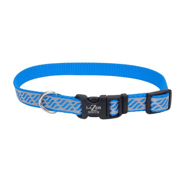 "5/8""x12-18"" Lazer Brite Blue Waves Collar"