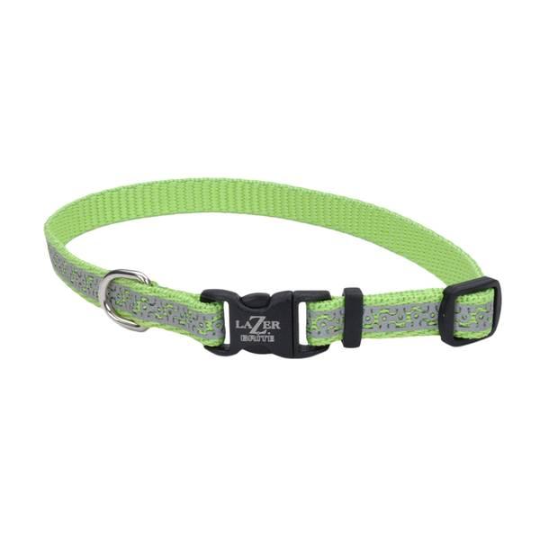 """3/8""""x8-12"""" Lazer Brite Lime Geo Collar"""