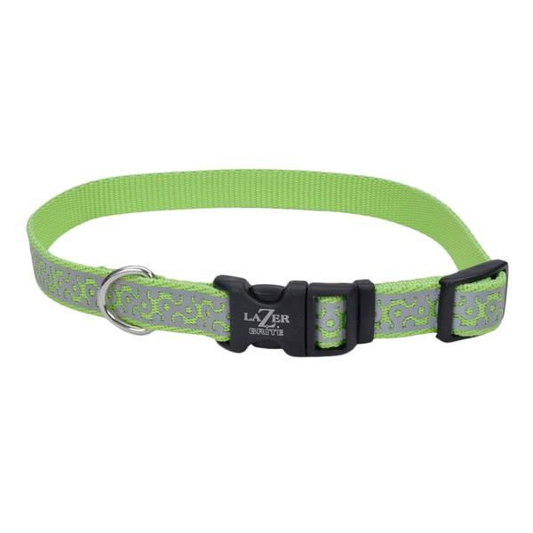 """5/8""""x12-18"""" Lazer Brite Lime Geo Collar"""