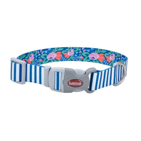 "3/4""x8-12"" Sublime Stripe/Flower Collar"