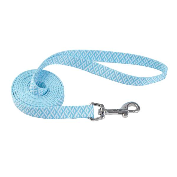"5/8""x6' Teal Diamonds Sketched Leash"