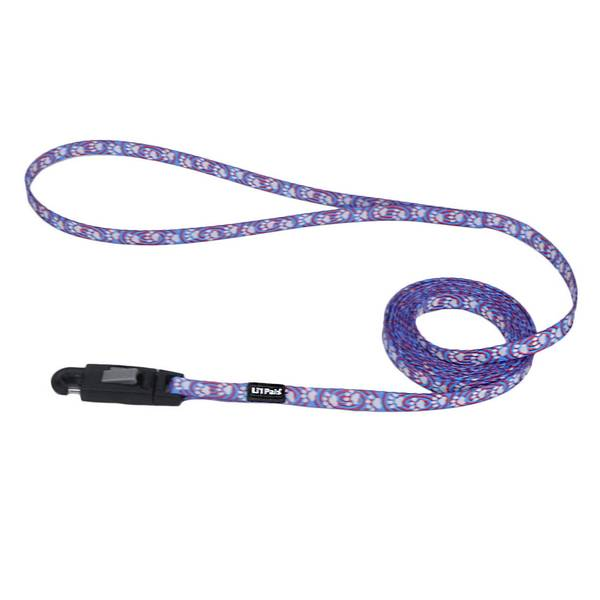 "5/16""x6' Lil Pal Light Blue Paw Leash"