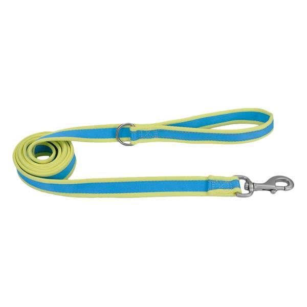 """1""""x6' Pro Reflect Aqua/Yellow Leash"""