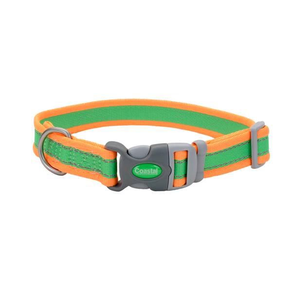 "3/4""x10-14"" Pro Reflect Lime/Orange Collar"