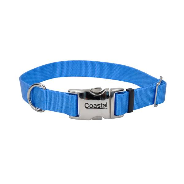 "1""x18-26"" Blue Lagoon Collar with Metal Buckle"