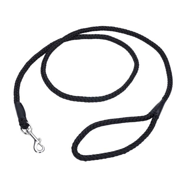 6' Black Rope Leash
