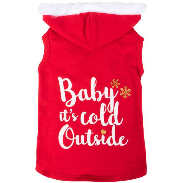 Red Baby Its Cold Outside Hoodie