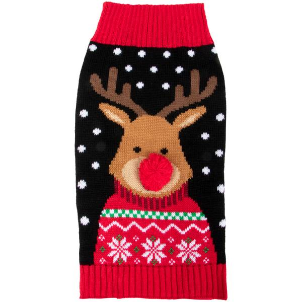 Black Reindeer Sweater