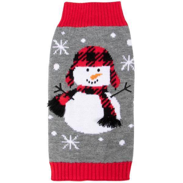 Cozy Buffalo Plaid Snowman Sweater