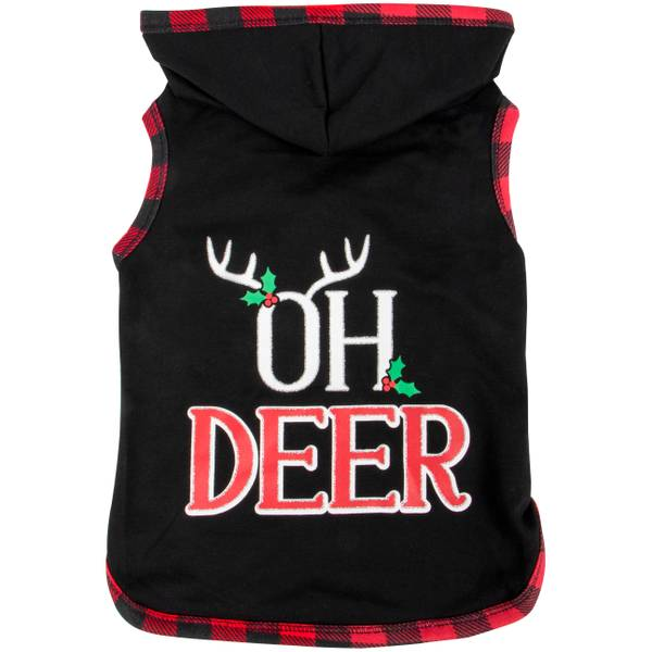 Black Oh Deer Holly Hoodie