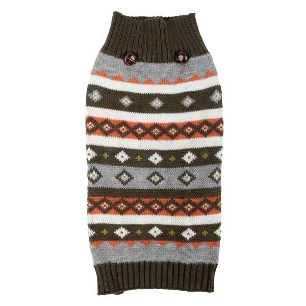 Olive Multi Fair Isle Sweater