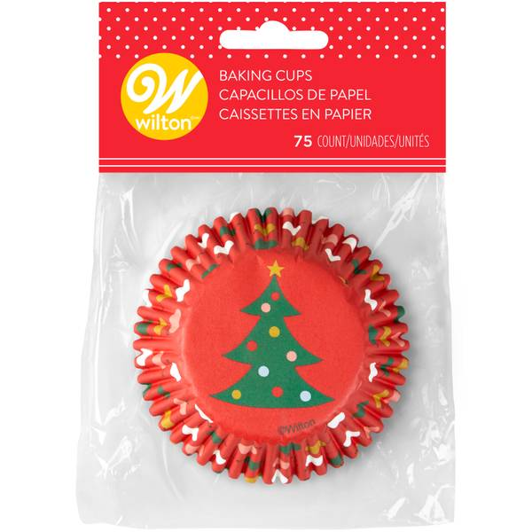 75-Count Tree and Ornament Baking Cup