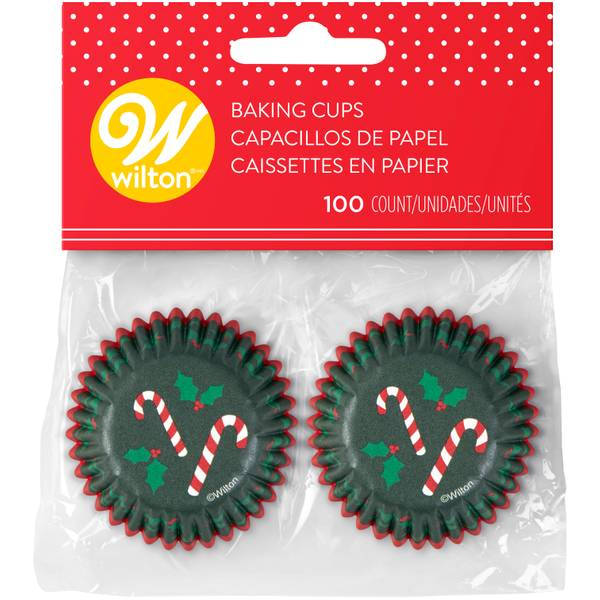 100-Count Mini Candy Cane Baking Cups