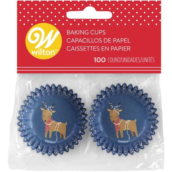 100-Count Mini Reindeer Baking Cups