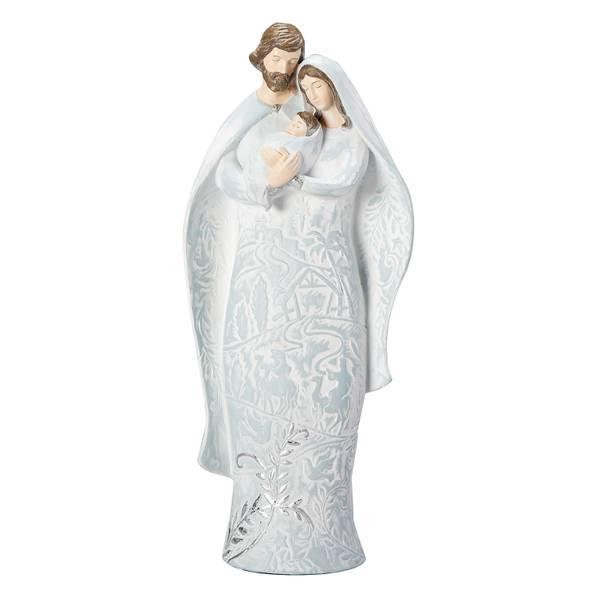 """10"""" Winter Scene Holy Family"""
