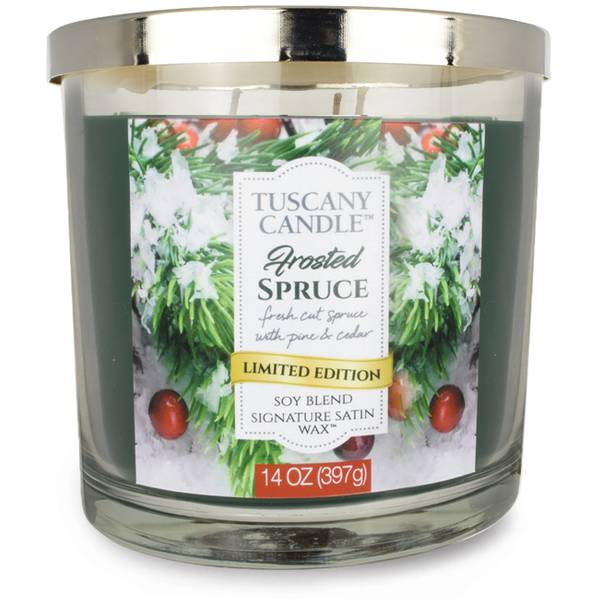 14 oz Frosted Spruce Jar Candle