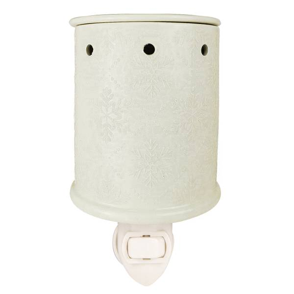 White with Glitter Snowflake Outlet Warmer