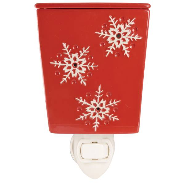Red with White Snowflake Outlet Warmer