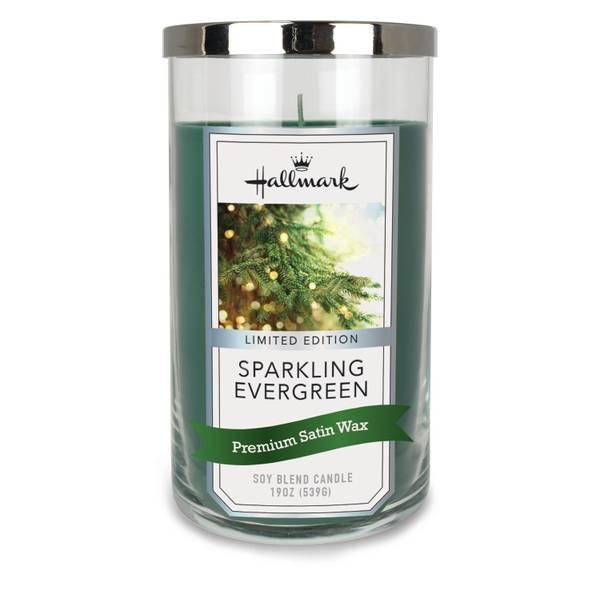 19 oz Hallmark Sparkling Evergreen Candle