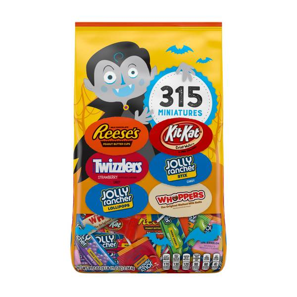 315-Piece Chocolate and Sweets Miniatures Bag