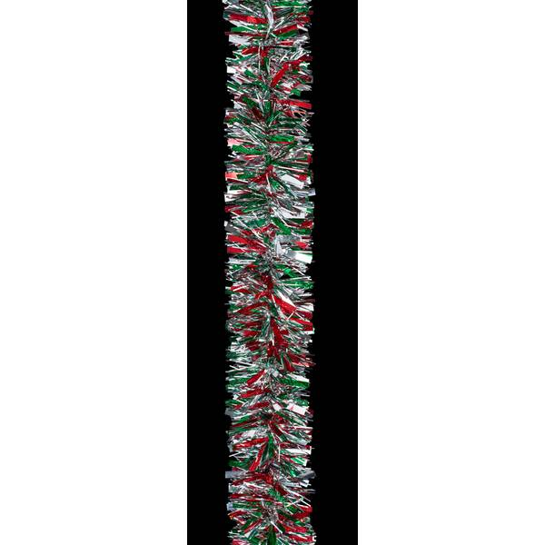10' Red/Green/Silver Deluxe Garland
