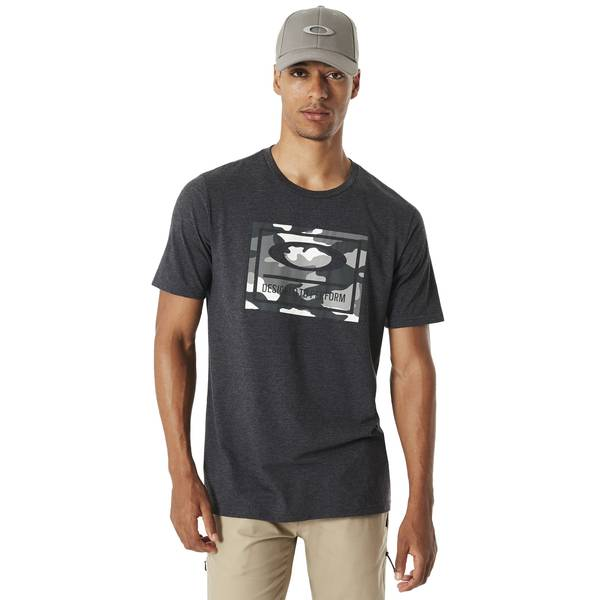 Men's Blackout Light Heather 50-DTP Camo Box Tee