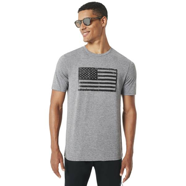 Men's Short Sleeve Military American Flag Tee Shirt