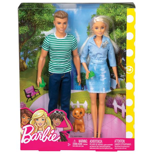 2-Pack Barbie and Ken Dolls