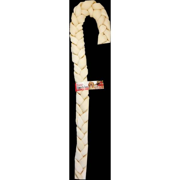 "20""-21"" Beefhide Holiday Braid Cane"