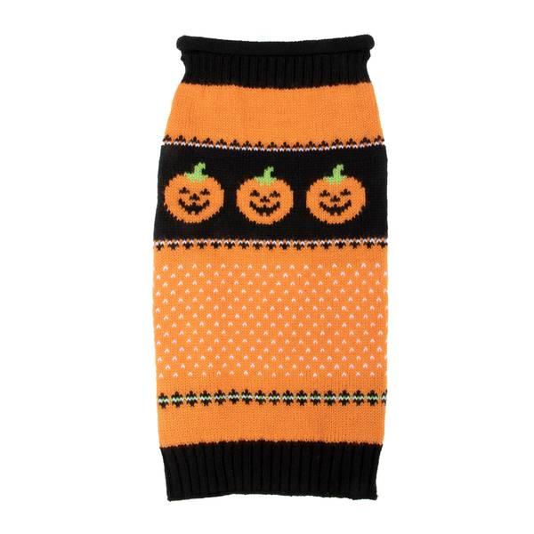 Orange Pumpkin Fair Isle Pet Sweater