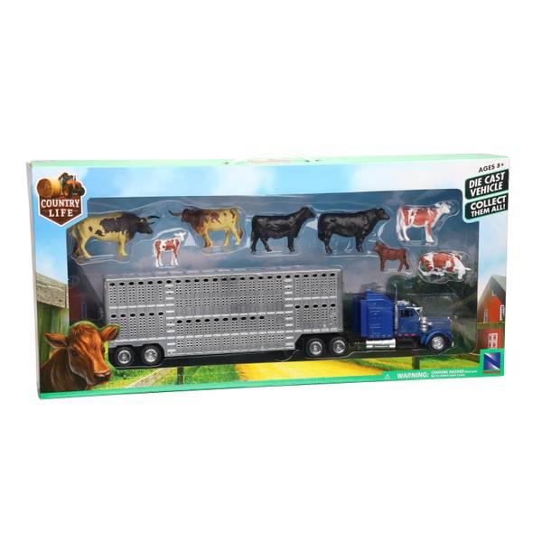 Livestock Long Hauler with Cow Set
