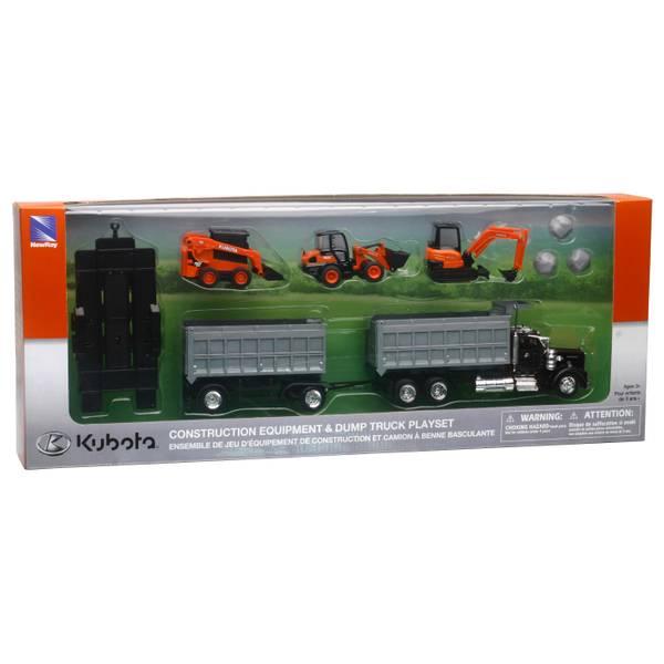 Kubota Diecast Construction Vehicles Set