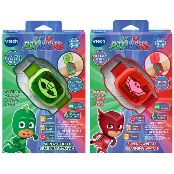 PJ Masks Super Learning Watches Assortment