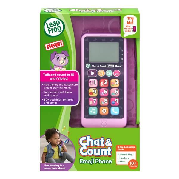 Chat & Count Phone Emoji Pink