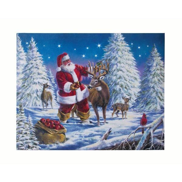 """12"""" x 15"""" An Apple From Santa LED Canvas"""