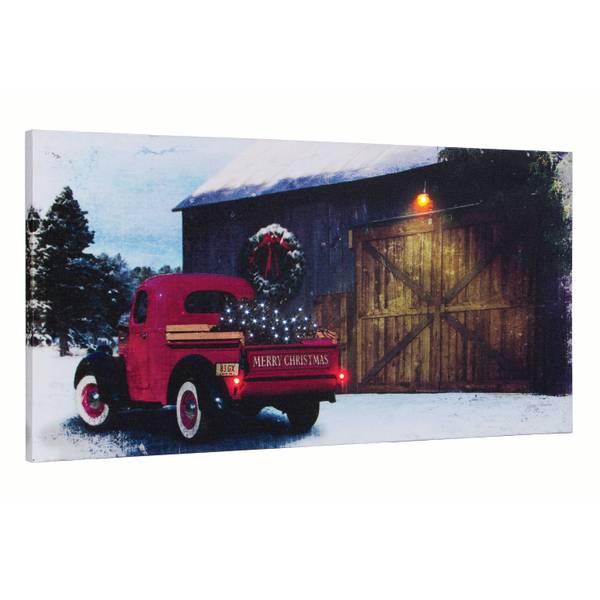 """12"""" x 24"""" Picking Up The Tree LED Canvas"""