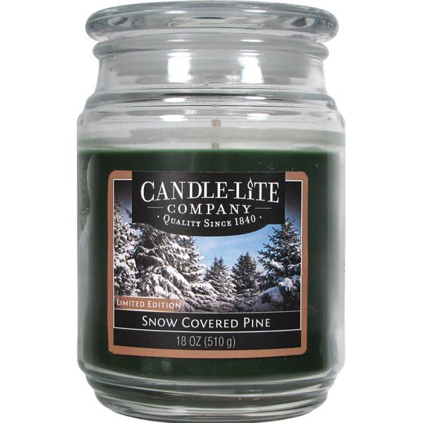 18 oz Snow Covered Pine Jar Candle
