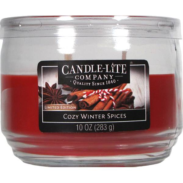 10 oz 3 Wick Winter Spices Jar Candle