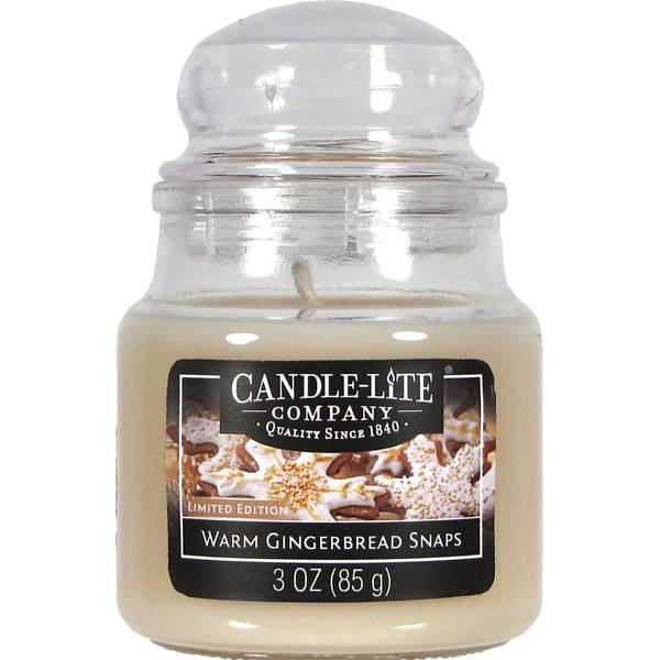 3 oz Gingerbread Snaps Jar Candle